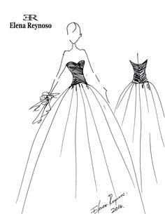 Diseños personalizados en Alta Costura, tomando en cuenta tu tipo de cuerpo, personalidad y estilo. Tu vestido ideal. Tel. 5684-3651  Tel. 5678-2726 www.elenareynoso.com