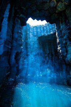Blue sea cave, Italy