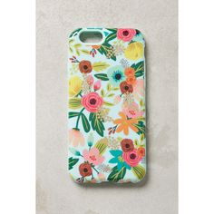 Rifle Paper Co. Gardenbloom iPhone 6 Case ($36) ❤ liked on Polyvore featuring accessories, tech accessories and mint