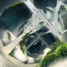 Citadel Skyscraper interior / Victor Kopeikin + Pavlo Zabotin [Futuristic Architecture: http://futuristicnews.com/category/future-architecture/]