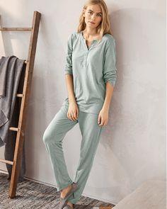 EILEEN FISHER Organic-Cotton Crossover-Placket Pajamas ff3007b87