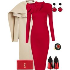 outfit 3163 by natalyag on Polyvore featuring Posh Girl, PINGHE, Christian Louboutin, Yves Saint Laurent and Marni