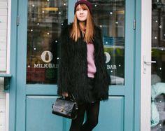 Abrigo de piel sintética / alpaca polvo rosa abrigo por Lookhunter