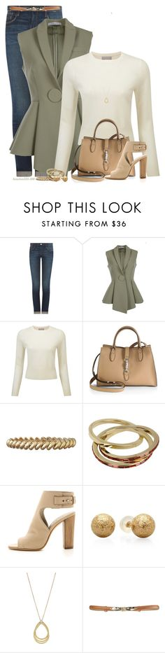 """Sleeveless Blazer"" by houston555-396 ❤ liked on Polyvore featuring Frame Denim, Givenchy, Pure Collection, Gucci, Anne Klein, Dsquared2, Vince and Marco Bicego"