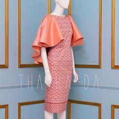 Cute Dresses, Short Dresses, Dresses For Work, Batik Dress, Silk Dress, Thai Fashion, African Wedding Dress, Batik Fashion, Thai Dress