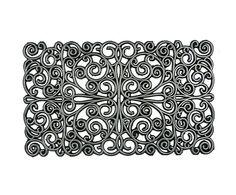 Westwing - Deurmat Crul Square, metallic, 75 x 45 cm