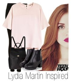 """""""Lydia Martin Inspired #1"""" by emily1d567 ❤ liked on Polyvore featuring Topshop, H&M, Dolce&Gabbana, MTV, TeenWolf, LydiaMartin and HollandRoden"""