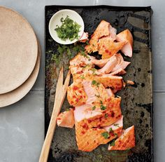 This is one of my go-to recipes when I can't think of what to make for dinner. The fish is topped with cilantro, but it's also great with pickled ginger.