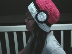 Pokéball Beanie. I think I'm going to have to learn how to knit...