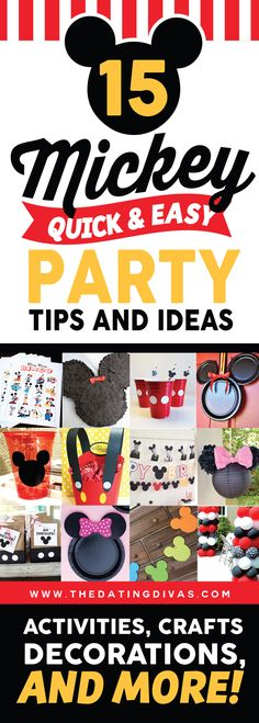 15 Totally Cute Mickey and Minnie Mouse Party Ideas