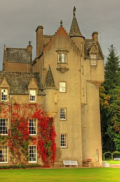 Ballindalloch Castle is a castle in Ineravon Civil Parish, between Dufftown and Grantown-on-Spey in Moray, Scotland. The first tower of the Z plan castle was built in 1546. - Wikipedia