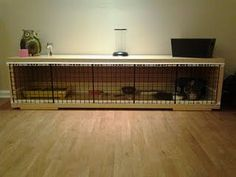 A DIY guinea pig cage using ikea furniture...it's like recycling but easier!