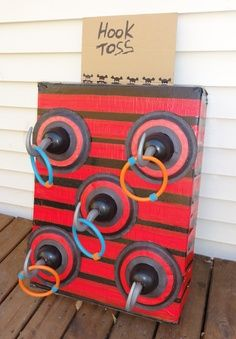 Fall Festival Booth Ideas   Hook Toss / carnival games