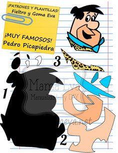 Plantillas personajes dibujos animados 80's