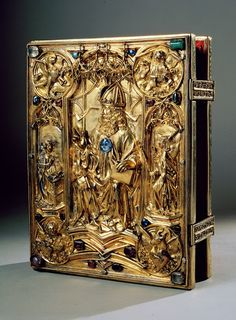 The Vienna Coronation Gospels is one of the most beautiful manuscripts of the Middle Ages and a major work of court art at the time of Charlemagne. 8th century