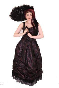 LDRES20 - ESME LONG ROUCHED DRESS | Alternative Clothing | Phaze Clothing