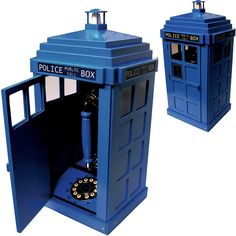 I don't know why you might be interested in a phone that's hidden away in a replica of a blue 1920's phone box, but... hey! Wait a minute! That's not an ordinary phone box; it's the Doctor Who TARDIS Telephone,