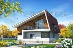 Проект дома из пеноблоков с мансардой, балконом, террасой 11х14