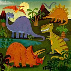 michael robertson illustration — dinosaurs and dragons Dinosaur Puzzles, Dinosaur Toys, Cute Dinosaur, Art Wall Kids, Art For Kids, Michael Robertson, Dragons, Art Lessons, Bunt
