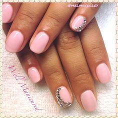 Wedding nails...#PrettyinPink! COLORS: #PinkSmoothie