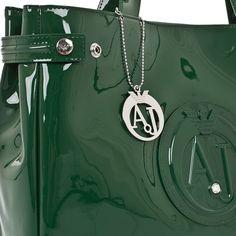 Armani Jeans Ladies Stylish Polish Handbag In Green - Grabells. bag 85e33d8f0a0fe