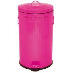 Poubelle en plastique inspir e de la forme des poubelles - Poubelle rose cuisine ...