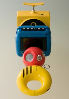 """70s """"portable"""" music players and tape recorders!!  I had them all in red!!"""
