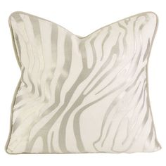 Zebra-striped linen pillow with down fill.   Product: PillowConstruction Material: Linen and down fillCo...