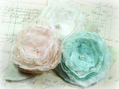 Vintage Roses - Handmade Flower Pin/Brooch by mysocalledjunkylife, via Flickr