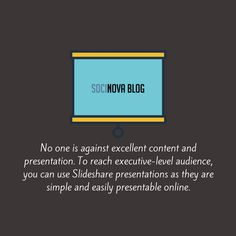 Slideshare presentations can be a great way to promote your content to the professional audience as you normally won't find them on Facebook or Twitter.
