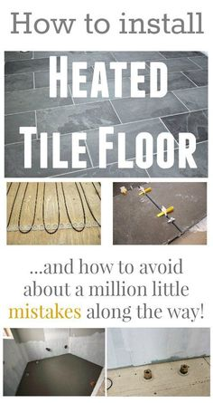 How to install heated tile floors in your home! Learn how to avoid all the little mishaps that can happen during the project!