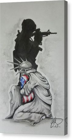 Statue Of Liberty Drawing, Statue Of Liberty Tattoo, Military Drawings, Military Tattoos, Home Tattoo, Freedom Drawing, Soldier Tattoo, Bridge Drawing, Soldier Drawing