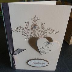 """Hochzeitskarte,Einladungskarte,Karte,Grußkarte von """"Schönes aus Stempel und Papier""""  auf DaWanda.com"""