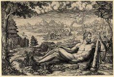 Giorgio Ghisi after Giulio Romano Hercules 1567 engraving British Museum