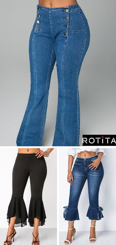 I wear denim everything anyways, but I am totally digging the denim pants! These outfit are what inspired these Fix! Fashion Wear, Diy Fashion, Autumn Fashion, Fashion Outfits, Fashion Design, Style Fashion, Ropa Semi Formal, Diy Clothes, Clothes For Women