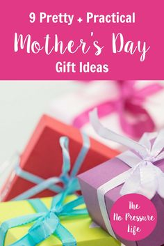 Love these Mother's Day gift ideas! Great gifts for moms that are practical but pretty, too! via @nopressurelife