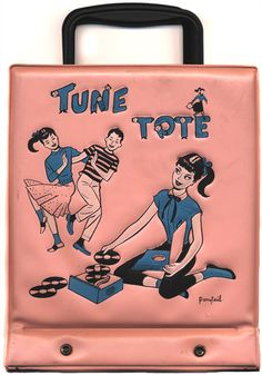 vintage 45 record carrier ....50s-60s -- course only a GIRL would actually USE one of these damn things (even though it made sense) lol