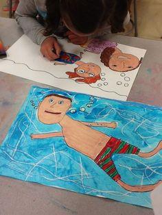 David Hockney pool series