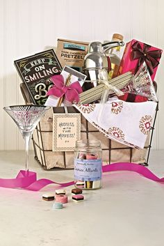 Need a unique gift? Show off your creativity with a personalized gift  basket! Try a girls night in with chocolates, cocktail glasses, shakers, snacks and more! Or entertainer, hostess, me-time theme. The options are endless and low prices open possibilities. Find your local HomeGoods store to get started!