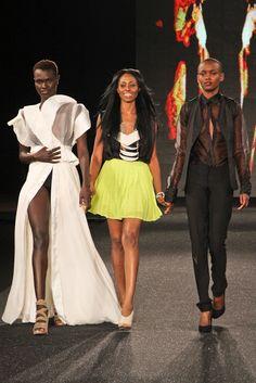 Bridget Awosika at AMFW 2011