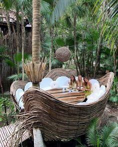 Azulik Tulum Hotel, - Cathi Nilchez - Re-Wilding Azulik Hotel Tulum, Casa Hotel, Jungle House, Bamboo Architecture, Bamboo House, Tulum Mexico, Vacation Places, Maui Vacation, Resorts