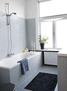 simple gray bathroom