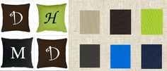 $20 Monogrammed Outdoor Pillows - You Choose Font and Colors!
