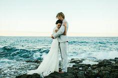 Bride & Groom. Oceanside Wedding.