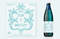 Etykieta do Soku Z Brzozy. Birch-tree juice's label.