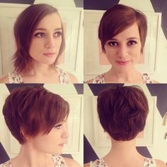 These pics are great because they show front, back, & sides. Cute Pixie Hair Cut for Spring and Summer - Short Haircuts 2015 Short Pixie Haircuts, Cute Hairstyles For Short Hair, Hairstyles Haircuts, Pretty Hairstyles, Short Hair Cuts, Short Hair Styles, Haircut Short, Medium Haircuts, Haircut And Color