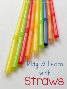 Straws for Crafts, Projects, and Activities for Kids from Still Playing School