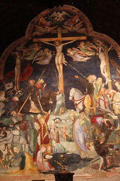 Lorenzo e Jacopo Salimbeni - Crocifissione - affreschi - 1416 - Oratorio di San Giovanni Battista ad Urbino