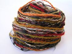Yarn Variety Hank in Earth Colours by Jukodesigns on Etsy, Earth Colours, Earth Tones, Textured Yarn, Different Textures, How To Better Yourself, The Selection, Therapy, Knitting, Etsy