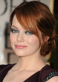 side view of Emma Stone Hair